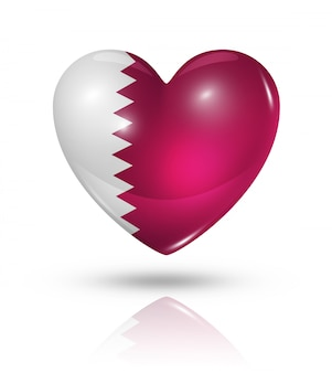 Liefde qatar hart vlag, pictogram