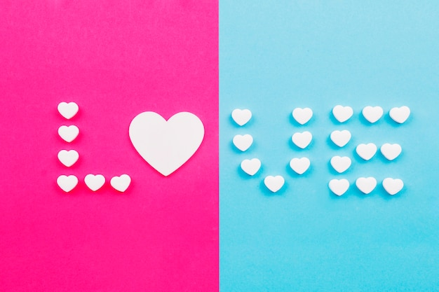 Liefde schrijven vanuit harten
