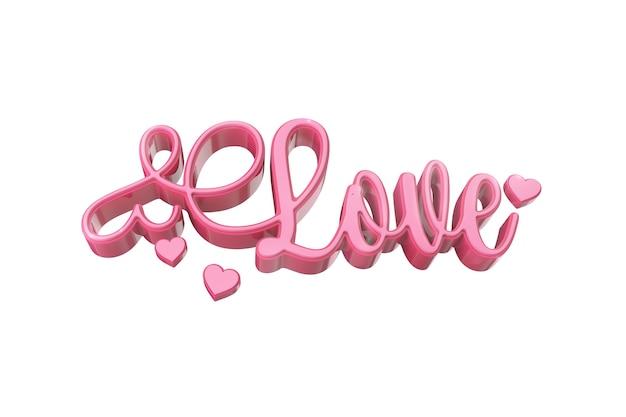 Liefde woord op wit oppervlak
