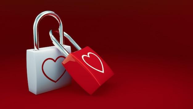 Liefdesloten voor valentine