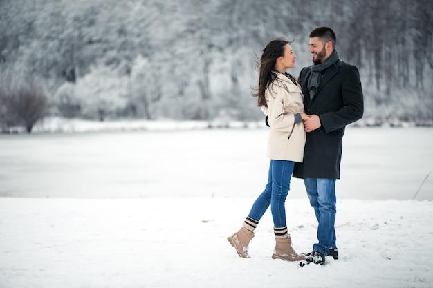 Liefdesverhaal in de winter
