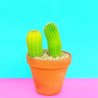 Liefhebbers van cactussen. minimaal begrip. cactus kunst