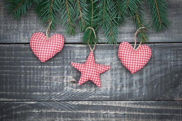 Lieve kleine handgemaakte kerstversiering