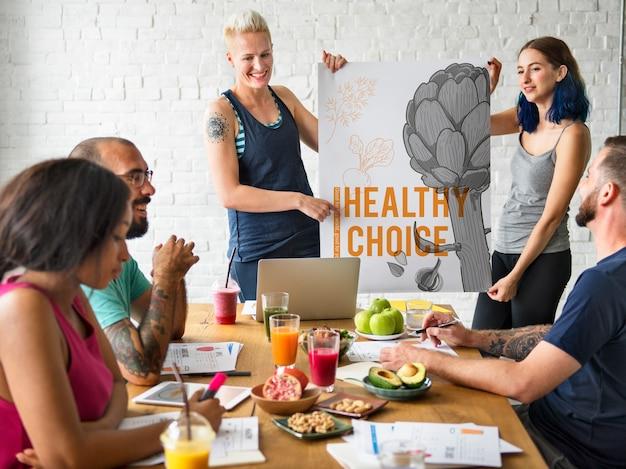 Lifestyle welzijn gezonde keuze bloem rode bieten voedsel