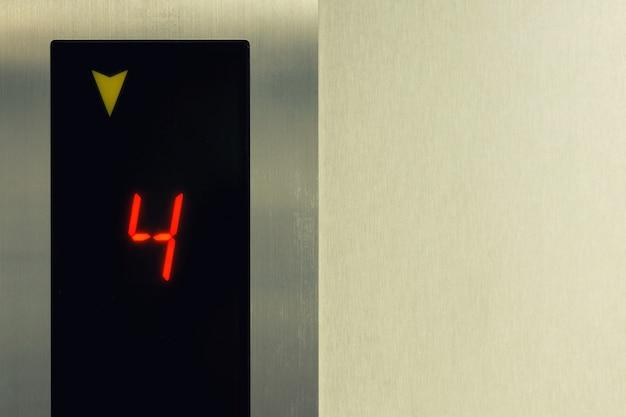 Liftpaneel toont vloernummer