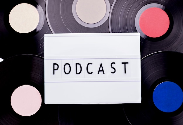 Lightbox met 'podcast'