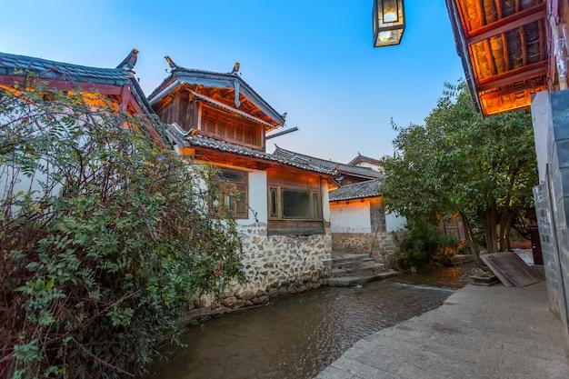 Lijiang oude stad gebouw street