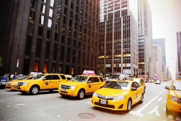 Lijn van taxi's