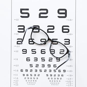Lijst met nummers voor optisch consult