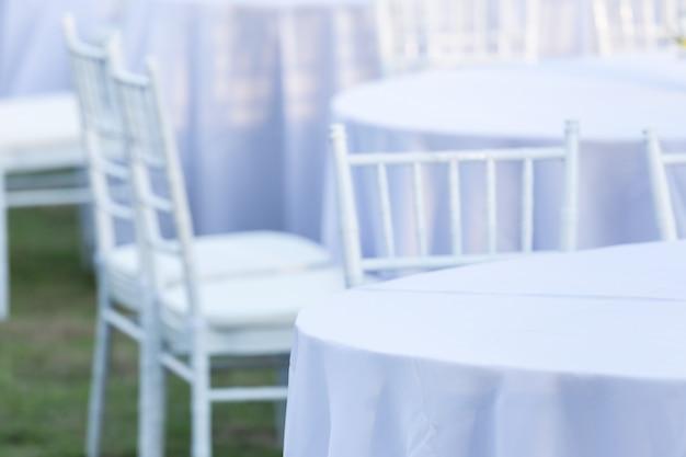 Lijst openlucht bij huwelijksontvangst