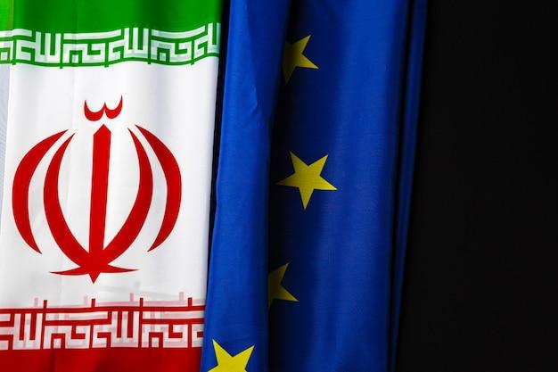 Lijst van vlaggen van iran en de europese unie samen