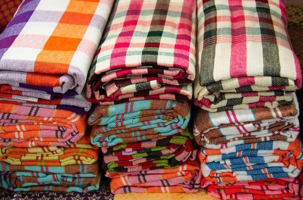 Linnen doek uit thailand, traditionele lendendoek gemaakt van thailand