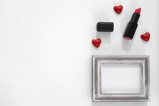 Lippenstift, hart en frame