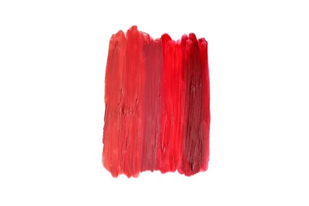 Lippenstift patroon. van lichte tot diepe kleur lippenstifttextuur.