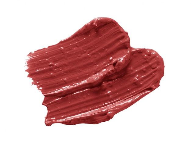 Lippenstift penseelstreken geïsoleerd op wit
