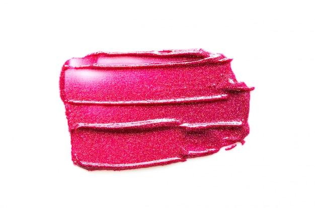 Lippenstiftslag op witte achtergrond wordt geïsoleerd die. - afbeelding