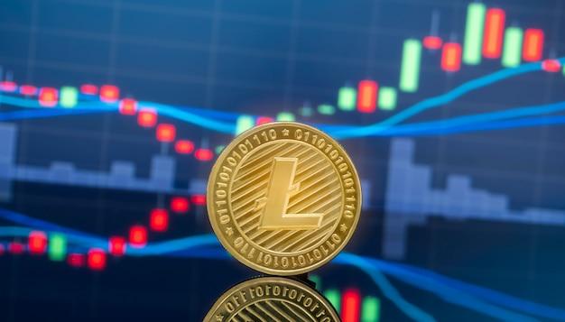 Litecoin en cryptocurrency beleggen concept.