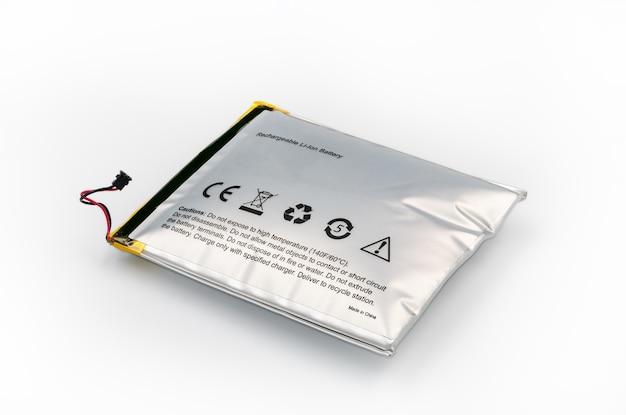 Lithium-ionbatterij die is uitgebreid.