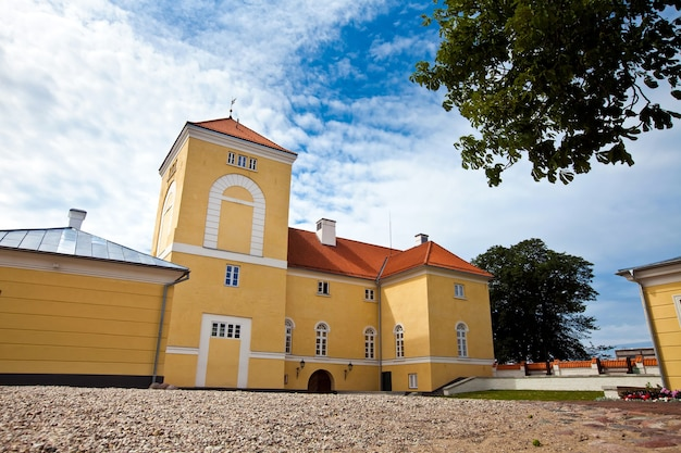 Livonian order kastelen in ventspils, letland