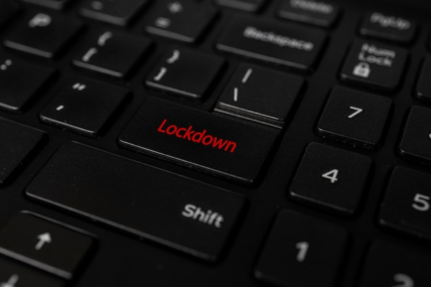 Lockdown covid19 knop Premium Foto