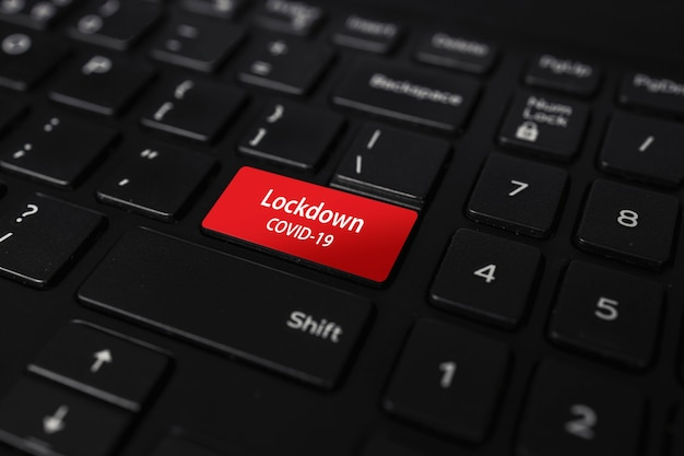 Lockdown covid19 knop