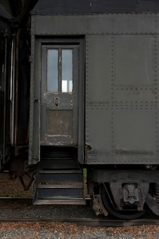 Locomotief bij northwest railway museum, snoqualmie, washington state, vs.