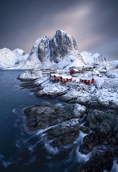 Lofoten-eilanden in noorwegen