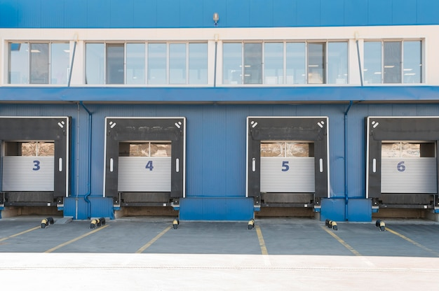 Logistiek centrumconcept met opslagruimtes