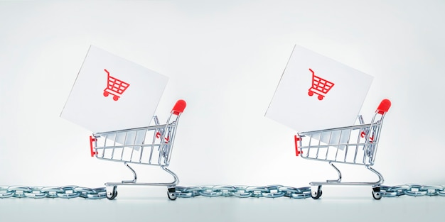 Logistiek, supply chain en verzendservice. supply chain management scm-concept.