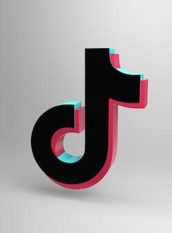 Logo van de tik tok-app minimaal eenvoudig ontwerp