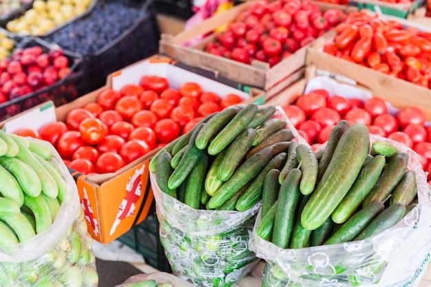 Lokale boerenmarkt in georgië