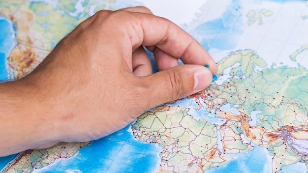Lokaliseer een plaats in europa