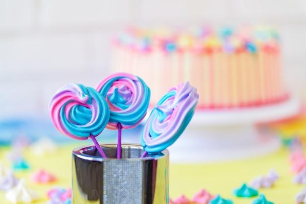 Lollipops spiral forms snoep op roze