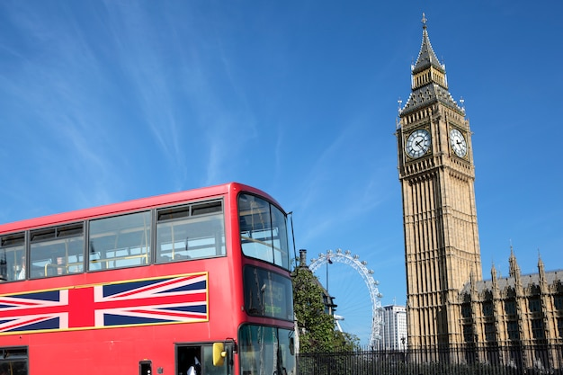 London bus met de big ben
