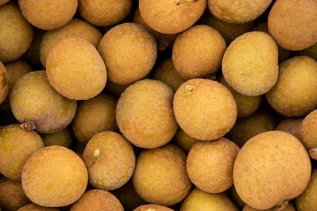 Longan fruit bovenaanzicht achtergrond.