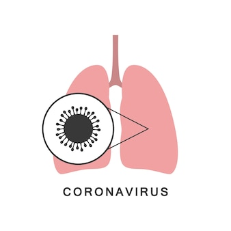 Longen met virus. nieuw coronavirus 2019-ncov. vector.