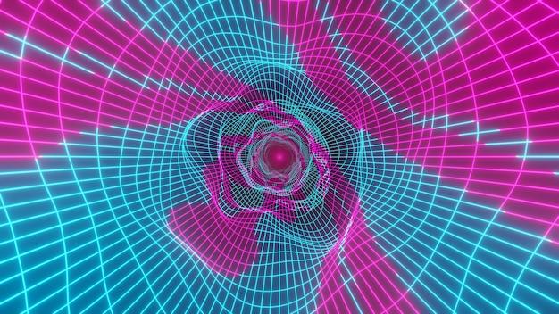 Loop tunnel wormgat. warp in science fiction gat vortex hyperspace tunnel. 3d render