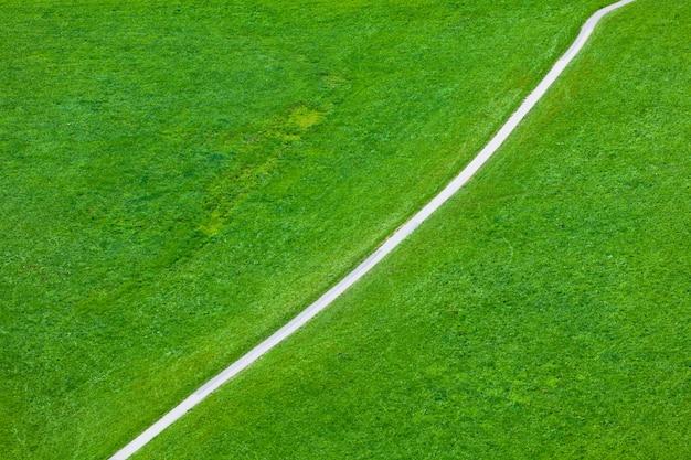 Lopend voetpad op groen gebied