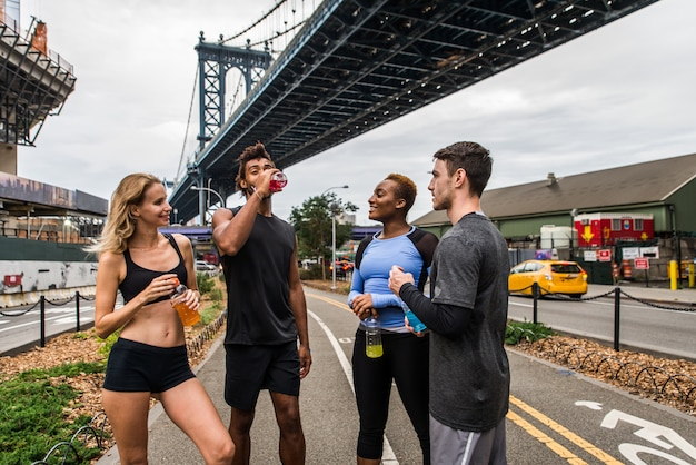 Lopers trainen in new york