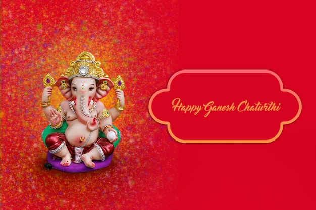 Lord ganesha in happy ganesh festival-banner