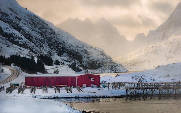 Lototenlandschap tijdens in de winter