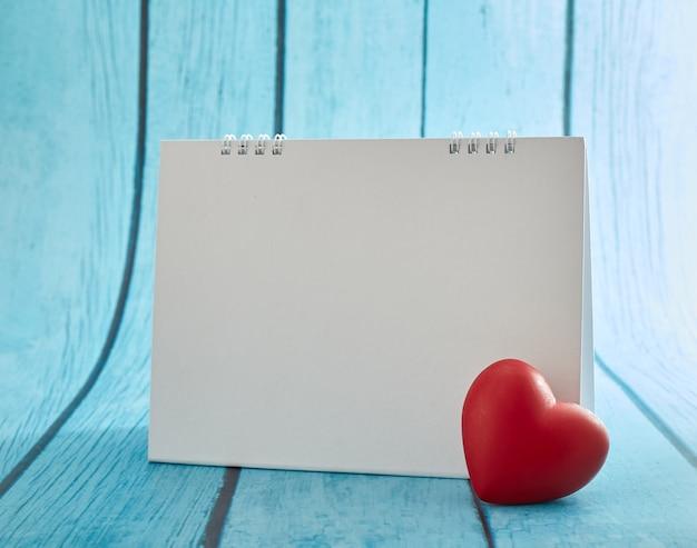 Love heart en lege kalender