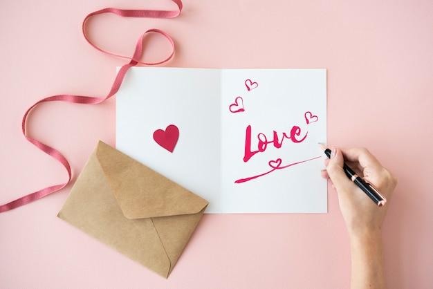 Love like adore genegenheid zorg passie romantiek concept