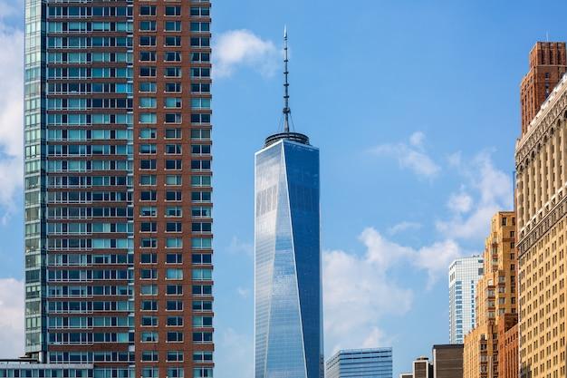 Lower manhattan nieuwe skyline freedom tower us