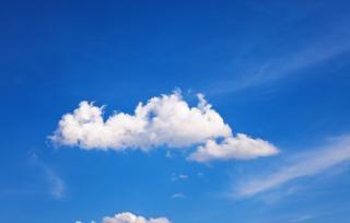 Lucht, blauw, hemel