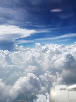 Lucht gevuld met wolken