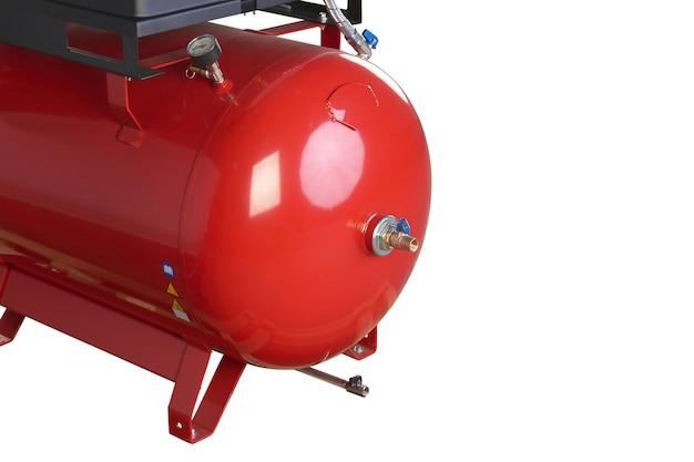 Luchtcompressor. professionele apparatuur en gereedschappen. industriële apparaten. geïsoleerde achtergrond.