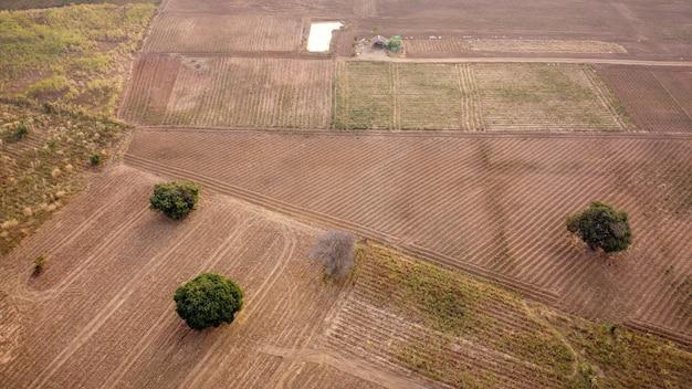 Luchtfoto, agrarisch perceel, dronefotografie.