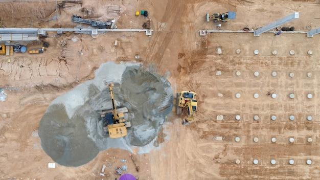 Luchtfoto bouwplaats