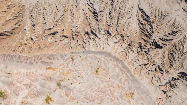 Luchtfoto bovenaanzicht patronen oppervlak op de aarde